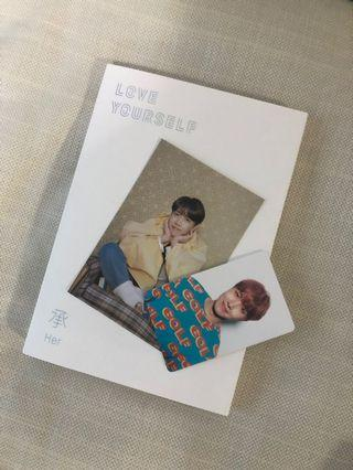 BTS Love Yourself Her JHope Photocard Postcard