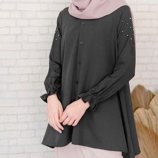 Blouse black by vanilla hijab