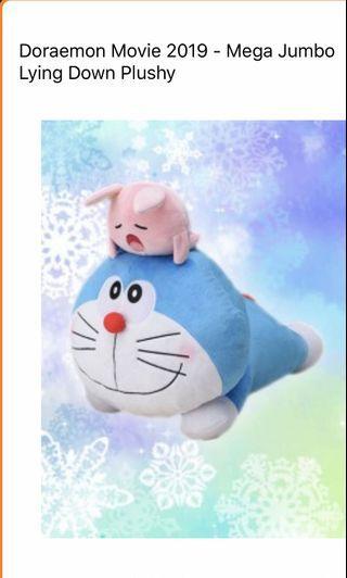 Laying Down Doraemon Plushy