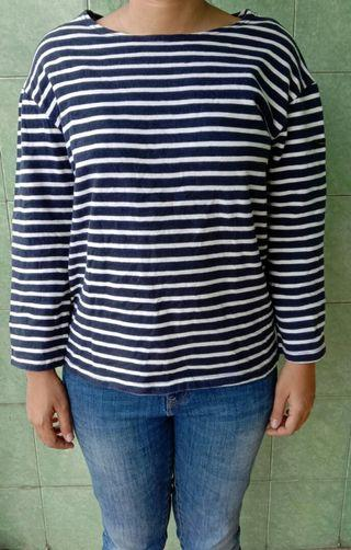 Long sleeve stripe navy