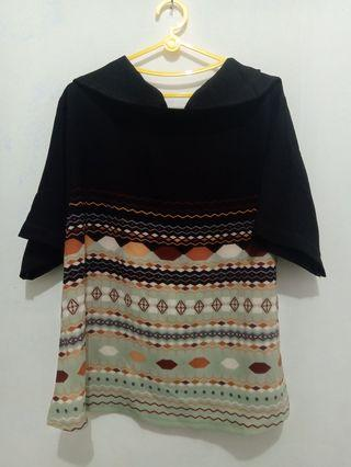 Blouse Tribal Coklat Tua