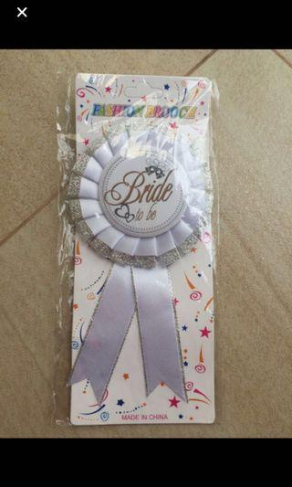 Hens night bride badge
