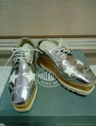 🎀限時免運🎀24號38號/8cm星星蛋糕鞋子增高鞋/銀色