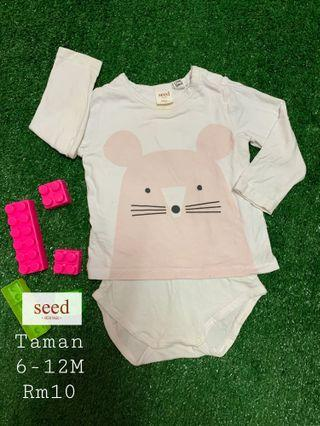 Seed Baby Rompers 6-12M
