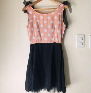 Lovely Pink and Black Ballerina Dress