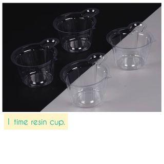One time using plastic cup - Uv resin