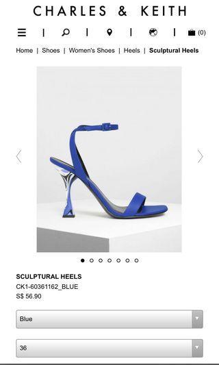 🚚 Charles & Keith blue heels 36