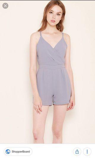 🚚 Ssd Fanya grey jumpsuit S