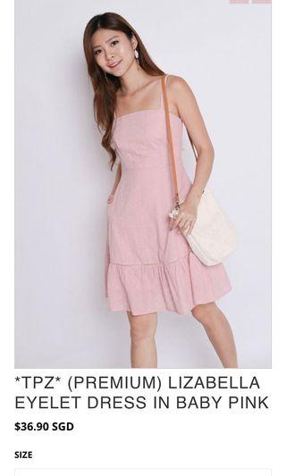 TPZ Lizebella eyelet baby pink dress S