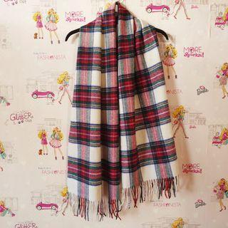 (NEW) Tartan Wool Pashmina