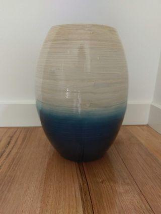 Decorative Bamboo Vase - Blue Ombre