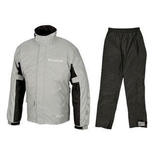Taichi Grey Racing Raincoat Motorcycle Riding Jacket Full Suit Rain Coat