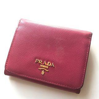 (Used)Prada Saffiano Metal Peonia Wallet