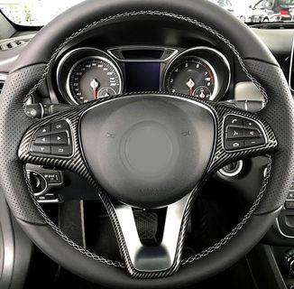 Mercedes Benz Steering Wheel Carbon Fiber/ Chrome / Piano Black/ Wood Grain Trim