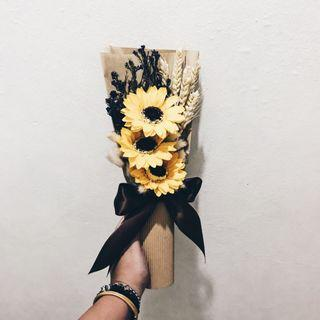 Sunflower Soap Bouquet with Fairylights