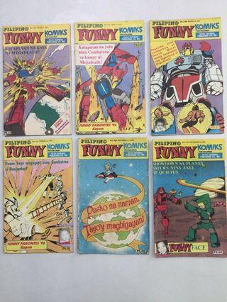 FUNNY KOMIKS COMBATRON COVERS