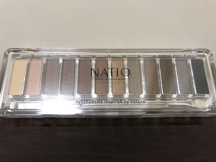全新 未拆封 澳洲NATIO 12色眼影盤 大地色 eyeshadow