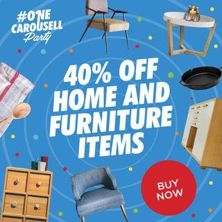 SHOP 40% off on Home and Furniture Items