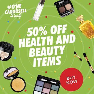 SHOP 50% off on Health and Beauty Items