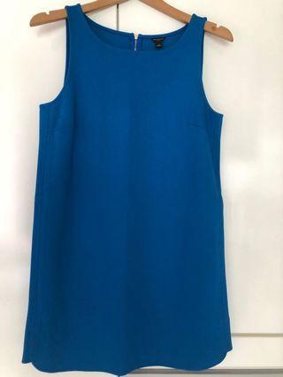Ann Taylor Blue Shift Dress