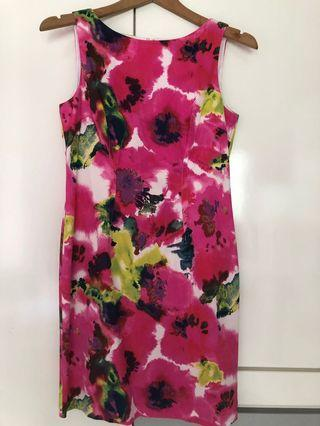 Ann Taylor Abstract Floral Dress