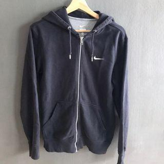 VINTAGE NIKE ZIP UP HOODIE (NAVY BLUE)
