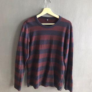 UNIQLO MAROON AND NAVY SWEATER