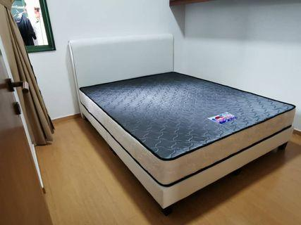 Queen Size Bed Frame with Mattress NEW