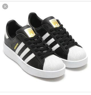 Adidas Superstar金標厚底鞋 Us7- 24.5 近全新