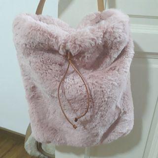 Cute large furry bag