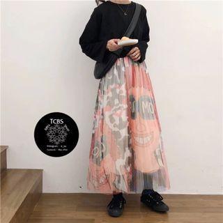 3301 印花半身裙
