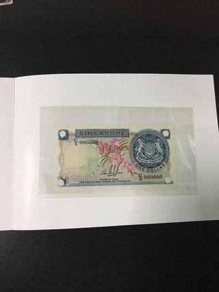🚚 $1 orchid (UNC) C3 000000 SPECIMEN