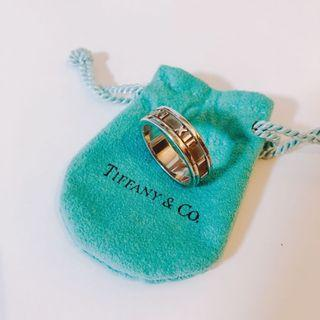Tiffany & Co. sterling sliver atlas Roman numeral wide band ring羅馬數字銀介指
