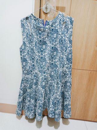 Dress Batik / Dress biru