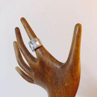 Crystal Sliver ring水晶銀戒指