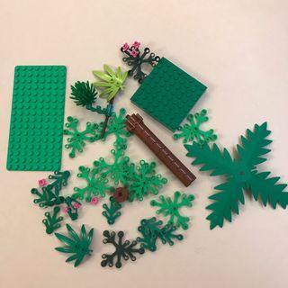 Lego 綠色散件 樹 板 葉 leaf tree