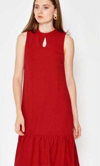 Love and Bravery Red Midi Dress