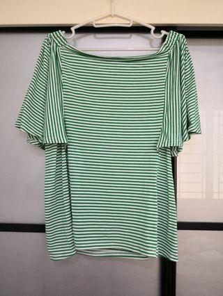 Green Stripes Top