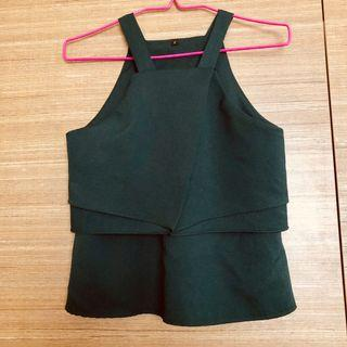 Green Halter Top, office/work blouse, stylish/trendy #Style