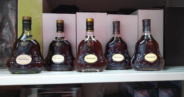 舊裝軒尼詩 Hennessy XO 35cl 五款連原裝盒