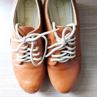 Sepatu Platform Wedges Shoes Adorable Projects Tan 5cm Size 41 Preloved Murah #maugopay #joinjuli
