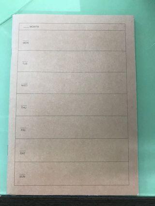 無印schedule book