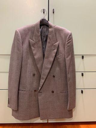 日本DURBAN紳士灰色成套西裝(含褲