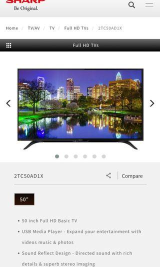 "Sharp 50"" LED TV"