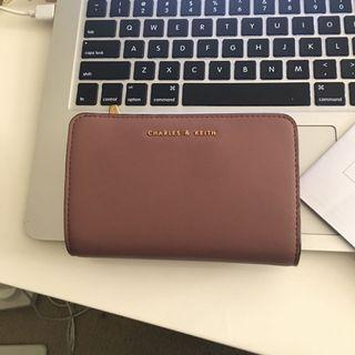 CHARLES & KEITH MAUVE LEATHER WALLET