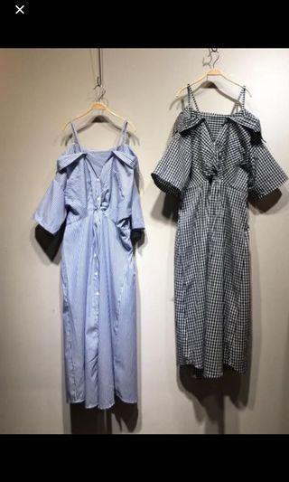 細條紋洋裝