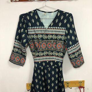 🚚 渡假風連身長裙(衣長130公分~~這款很美(綁帶顯腰身