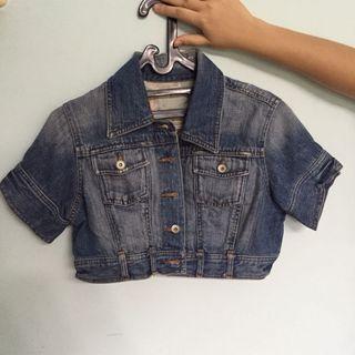 Jaket jeans denim jacket crop