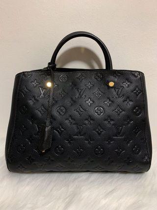 🚚 [FINAL 2400$]LV Montaigne MM Black Empriente Leather