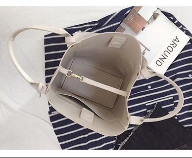 BN stylish Korean tote/ laptop bag with free pouch